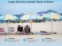 Image Showing Umbrella Placed At Beach
