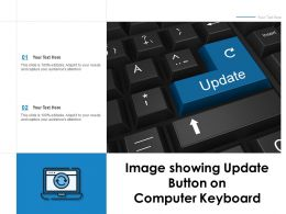 Image Showing Update Button On Computer Keyboard