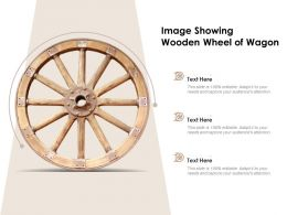 Image Showing Wooden Wheel Of Wagon