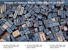 Images Of Various Block Letter Placed On Floor