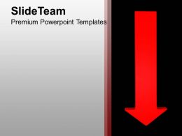 Imgae Of Red Down Arrow PowerPoint Templates PPT Themes And Graphics 0213
