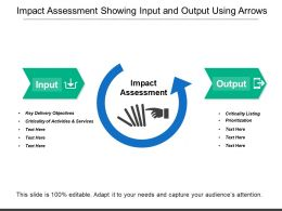 Impact Assessment Showing Input And Output Using Arrows