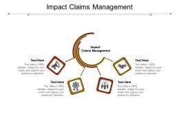 Impact Claims Management Ppt Powerpoint Presentation Inspiration Background Cpb