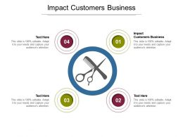 Impact Customers Business Ppt Powerpoint Presentation Inspiration Show Cpb