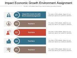 Impact Economic Growth Environment Assignment Ppt Powerpoint Presentation Layouts Tips Cpb