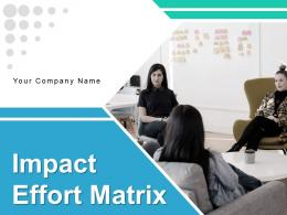 Impact Effort Matrix Organization Business Prioritization Arrows Components Planning