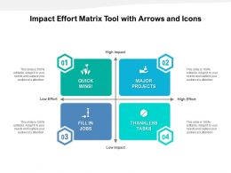 Impact Effort Matrix Tool With Arrows And Icons