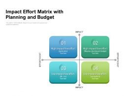 Impact Effort Matrix With Planning And Budget