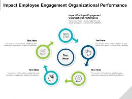 Impact Employee Engagement Organizational Performance Ppt Powerpoint Presentation Icon Graphic Cpb