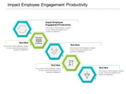 Impact Employee Engagement Productivity Ppt Powerpoint Presentation Portfolio Brochure Cpb