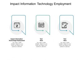 Impact Information Technology Employment Ppt Powerpoint Examples Cpb
