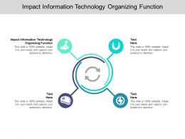 Impact Information Technology Organizing Function Ppt Powerpoint Presentation Layouts Cpb