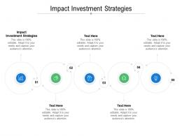 Impact Investment Strategies Ppt Powerpoint Presentation Styles Shapes Cpb