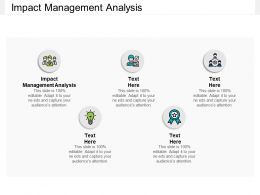 Impact Management Analysis Ppt Powerpoint Presentation Guide Cpb
