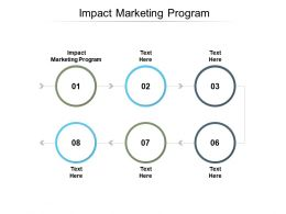 Impact Marketing Program Ppt Powerpoint Presentation File Layout Cpb