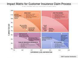 Impact Matrix For Customer Insurance Claim Process