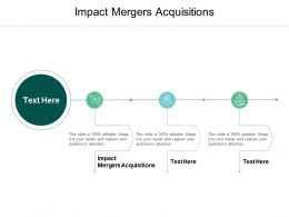 Impact Mergers Acquisitions Ppt Powerpoint Presentation Gallery Deck Cpb