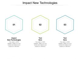 Impact New Technologies Ppt Powerpoint Presentation Visual Aids Gallery Cpb
