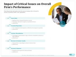 Impact Of Critical Issues On Overall Firms Performance Ppt Gallery