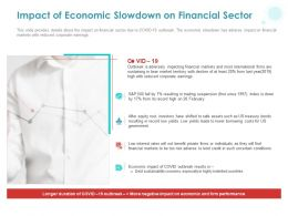 Impact Of Economic Slowdown On Financial Sector Ppt Powerpoint Presentation Inspiration