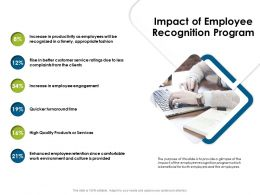 Impact Of Employee Recognition Program Environment Ppt Powerpoint Styles Smartart