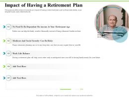 Impact Of Having A Retirement Plan Investment Plans Ppt Inspiration Tips