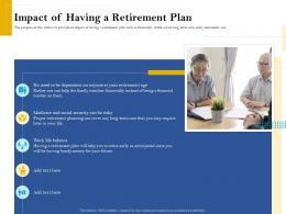 Impact Of Having A Retirement Plan Retirement Analysis Ppt Deck
