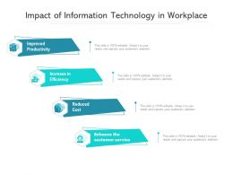Impact Of Information Technology In Workplace