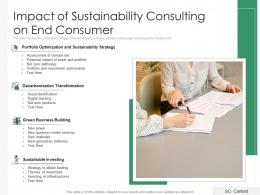 Impact Of Sustainability Consulting On End Consumer