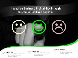 Impact On Business Profitability Through Customer Positive Feedback