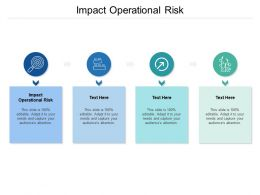 Impact Operational Risk Ppt Powerpoint Presentation Inspiration Mockup Cpb
