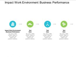 Impact Work Environment Business Performance Ppt Powerpoint Presentation Model Portrait Cpb