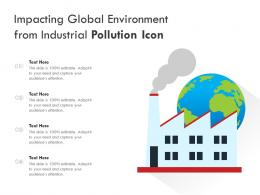 Impacting Global Environment From Industrial Pollution Icon