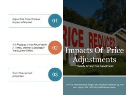 Impacts Of Price Adjustments Ppt Design