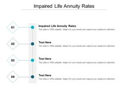 Impaired Life Annuity Rates Ppt Powerpoint Presentation Styles Influencers Cpb