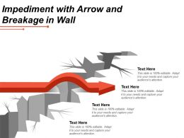 Impediment With Arrow And Breakage In Wall