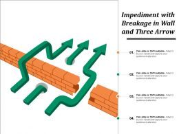 Impediment With Breakage In Wall And Three Arrow
