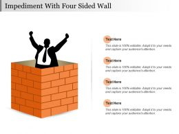 Impediment With Four Sided Wall