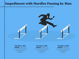 Impediment With Hurdles Passing By Man