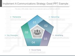 Implement A Communications Strategy Good Ppt Example