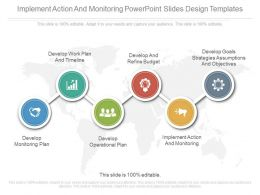 Implement Action And Monitoring Powerpoint Slides Design Templates
