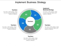 Implement Business Strategy Ppt Powerpoint Presentation Summary Example File Cpb