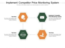 Implement Competitor Price Monitoring System Ppt Powerpoint Presentation Inspiration Show Cpb