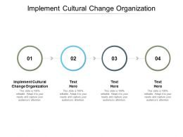 Implement Cultural Change Organization Ppt Powerpoint Presentation Ideas Graphics Cpb