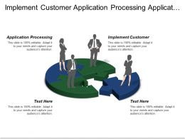 Implement Customer Application Processing Application Processing Approaching Organized