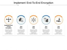 Implement End To End Encryption Ppt Powerpoint Presentation Gallery Backgrounds Cpb