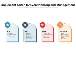Implement Kaizen For Event Planning And Management