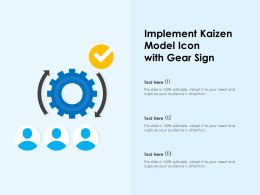 Implement Kaizen Model Icon With Gear Sign