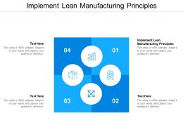 Implement Lean Manufacturing Principles Ppt Powerpoint Presentation Model Styles Cpb