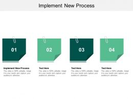 Implement New Process Ppt Powerpoint Presentation Styles Example Cpb